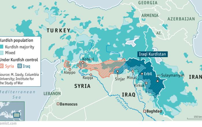 Ο σκοπός της Τουρκίας είναι να χωρίσει τα τέσσερα μέρη του Κουρδιστάν