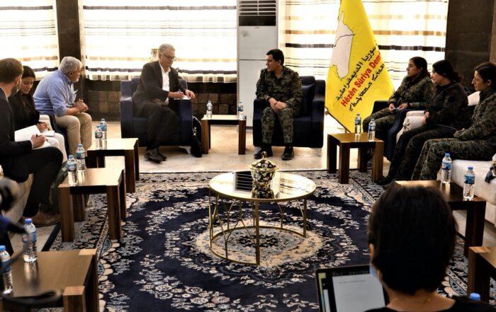 Συνάντηση Σουηδικής αντιπροσωπείας με τις Συριακές Δημοκρατικές Δυνάμεις