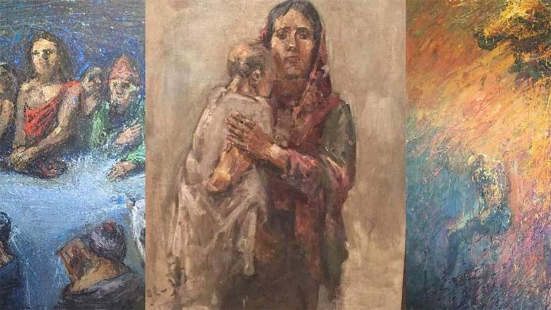 Ο Κούρδος καλλιτέχνης Jango Mousa ζωγραφίζει τον πόλεμο και τη μετανάστευση